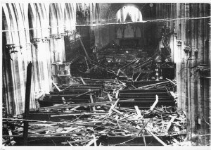 Archive photo of Cathedral after blitz