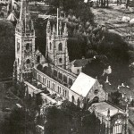 The cathedral roofless during the war