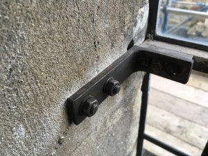 A prototype of the glazing bracket