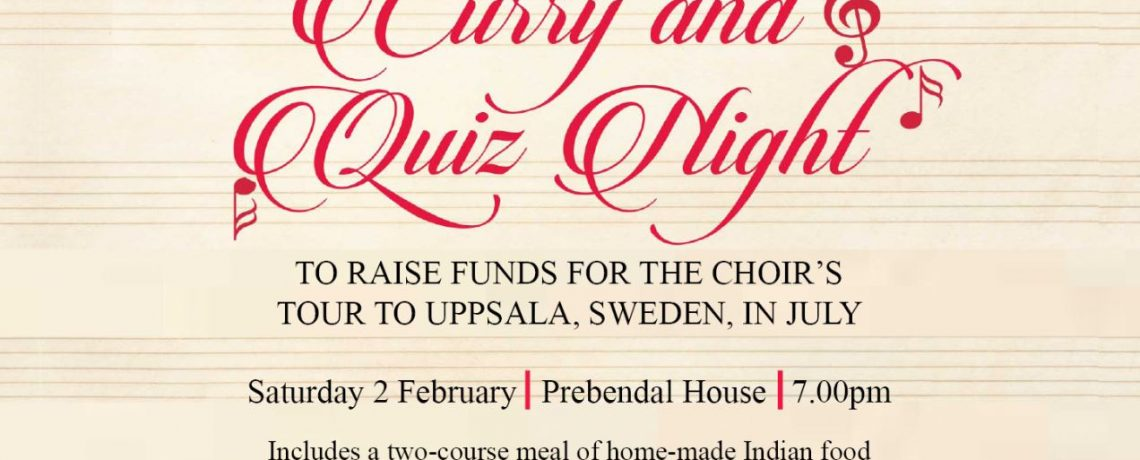 Curry and Quiz Night!